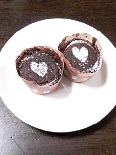 バレンタインのチョコケーキ